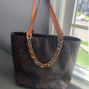 Michael Kora Signature Chain MK tote purse bag